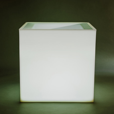 ghiveci, frapiera, led, cuby