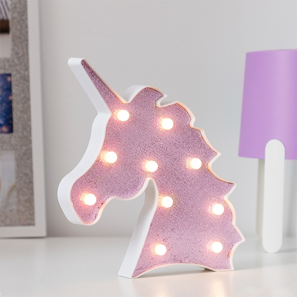 lampa, led, unicorn